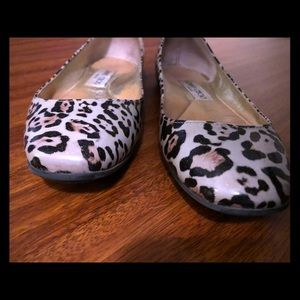 Jimmy Choo Leopard Patent Leather Flats